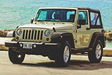 4x4 Jeep Wrangler Two Door Soft Top